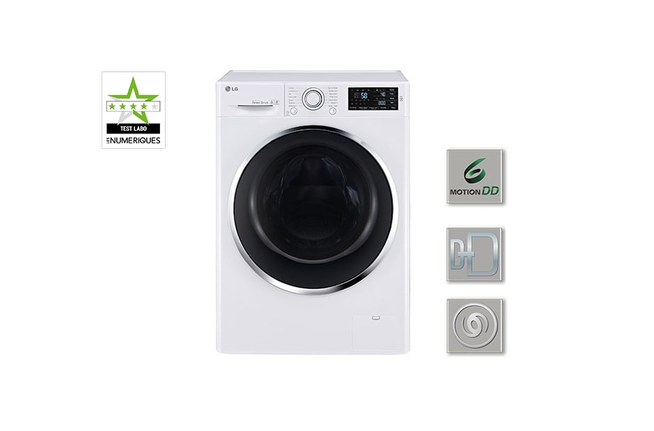 lg lave linge 6 motion direct drive f84902wh d couvrez le lave linge lg f84902wh. Black Bedroom Furniture Sets. Home Design Ideas