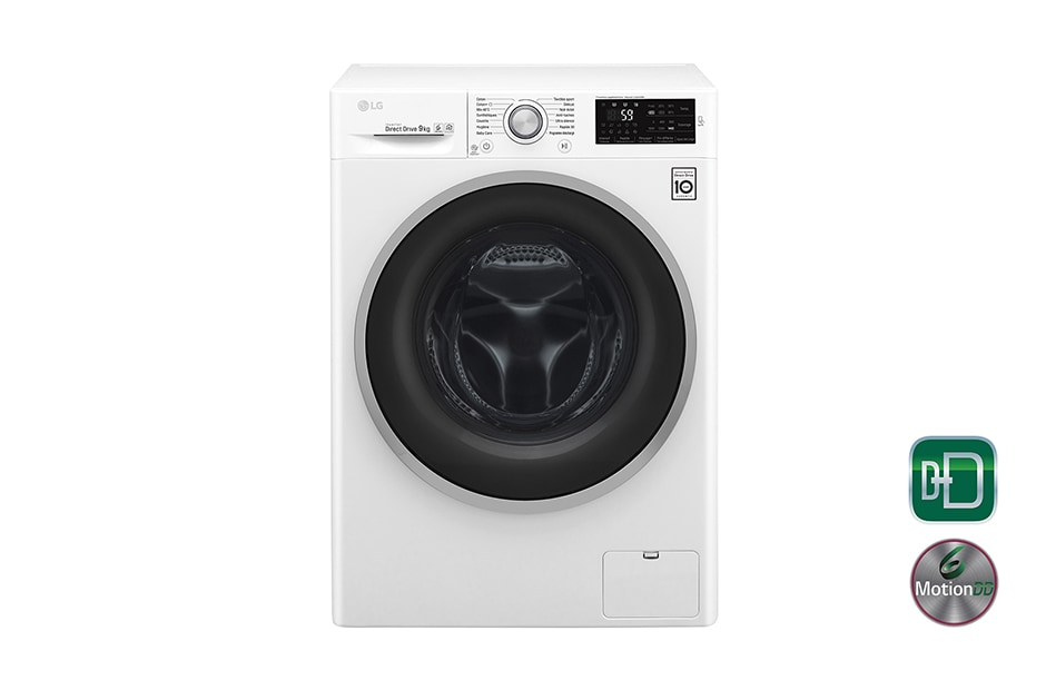 lg lave linge 6 motion direct drive f94j61wh d couvrez le lg f94j61wh. Black Bedroom Furniture Sets. Home Design Ideas