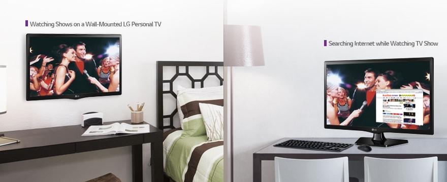 Lg tv led 24 pouces 60cm led r solution hd 1366x768 - Accroche murale tv ...