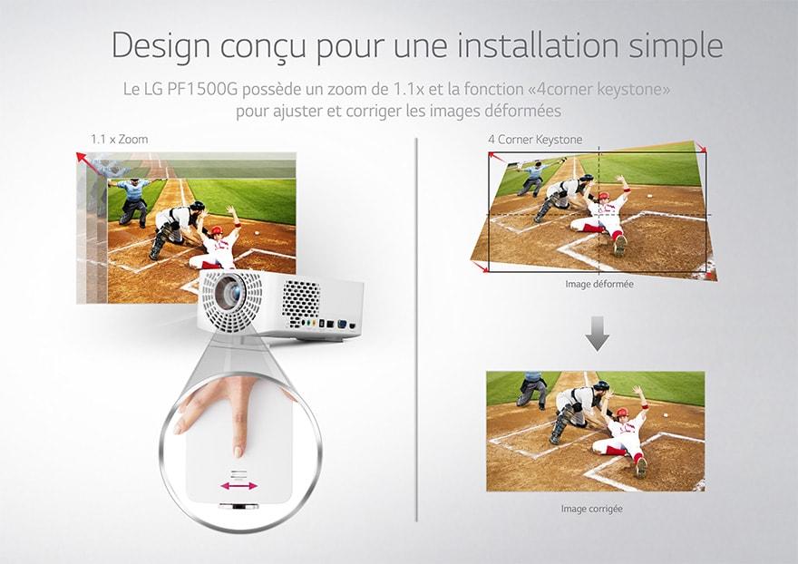 Design conçu pour une installation simple
