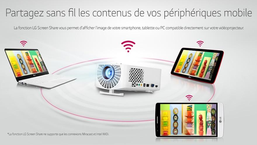 Partagez sans fil les contenus de vos p�riph�riques mobile