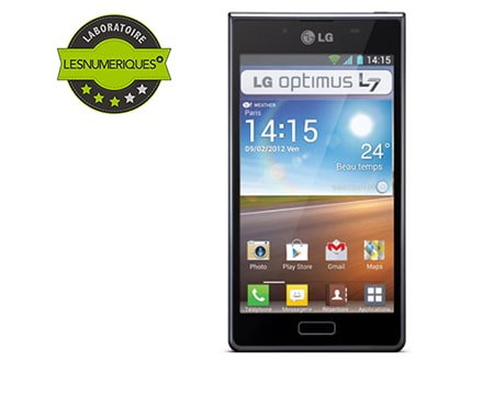 lg optimus l7 le t l phone portable lg optimus l7 p700. Black Bedroom Furniture Sets. Home Design Ideas