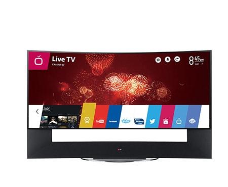 lg tv 105 pouces 267 cm led full hd incurv smart tv 3d. Black Bedroom Furniture Sets. Home Design Ideas