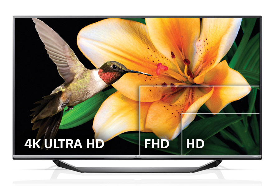 ULTRA HD resolution: 4 times greater than that of Full HD