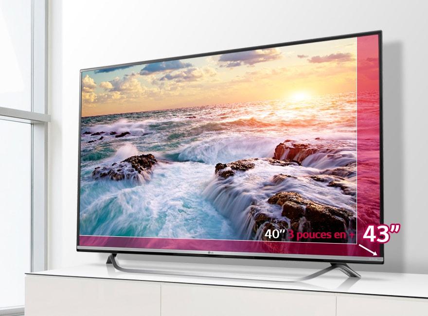 lg tv 43 pouces 108 cm led uhd 4k d couvrez la lg 43uf778v. Black Bedroom Furniture Sets. Home Design Ideas