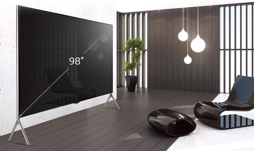 lg tv 98 pouces 248 cm led uhd 4k smart tv 3d harman kardon d couvrez la lg 98ub980v. Black Bedroom Furniture Sets. Home Design Ideas