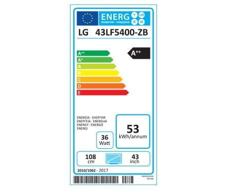 Etiquette Energie 43LF5400