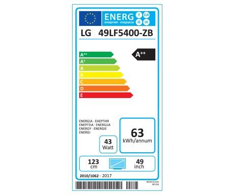 Etiquette Energie 49LF5400
