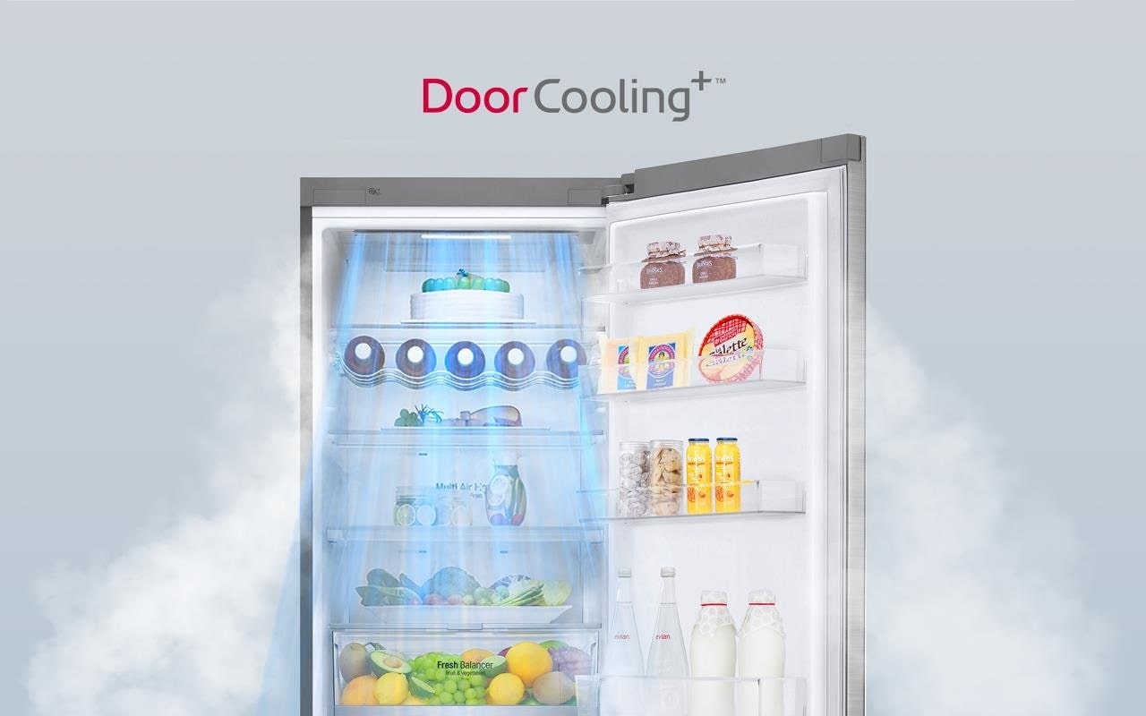 The LG Fridge has door cooling properties so you don't have to worry about your drinks heating up | More at LG MAGAZINE