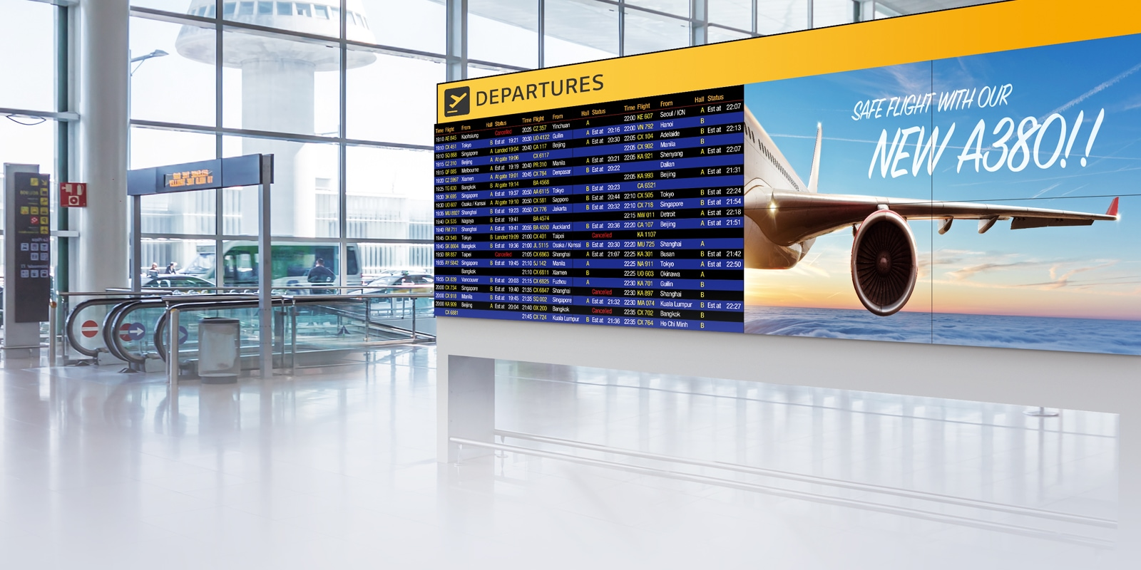 Video Wall   Digital Signage   Products   Information