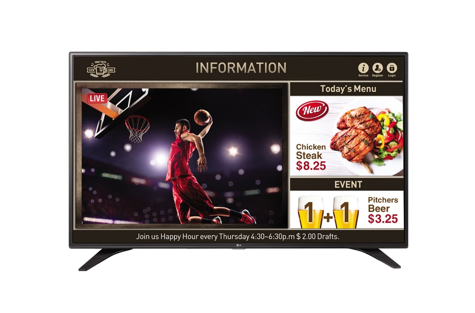 LG Commercial TV 43LW540S (NA) 1