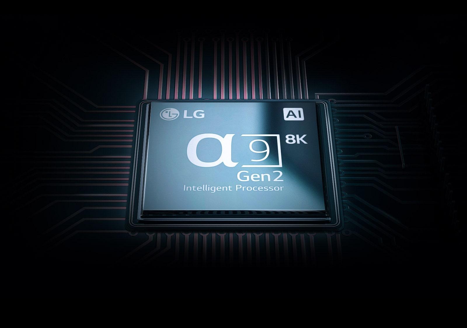 Image of alpha 9 Gen 2 processor of LG SIGNATURE OELD TV Z9