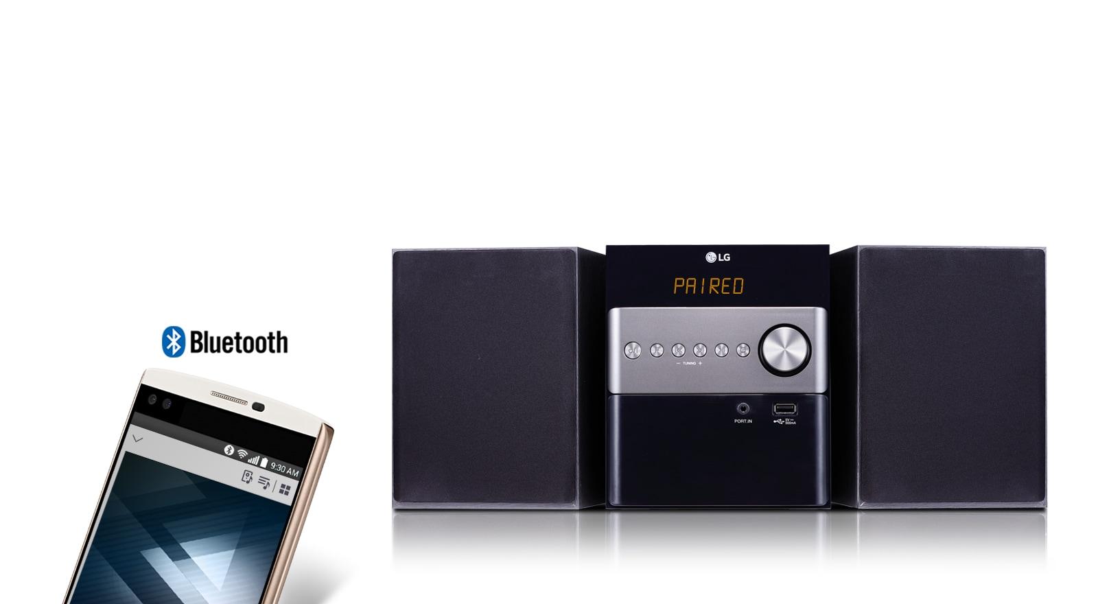 Συνεχής ροή ήχου μέσω Bluetooth
