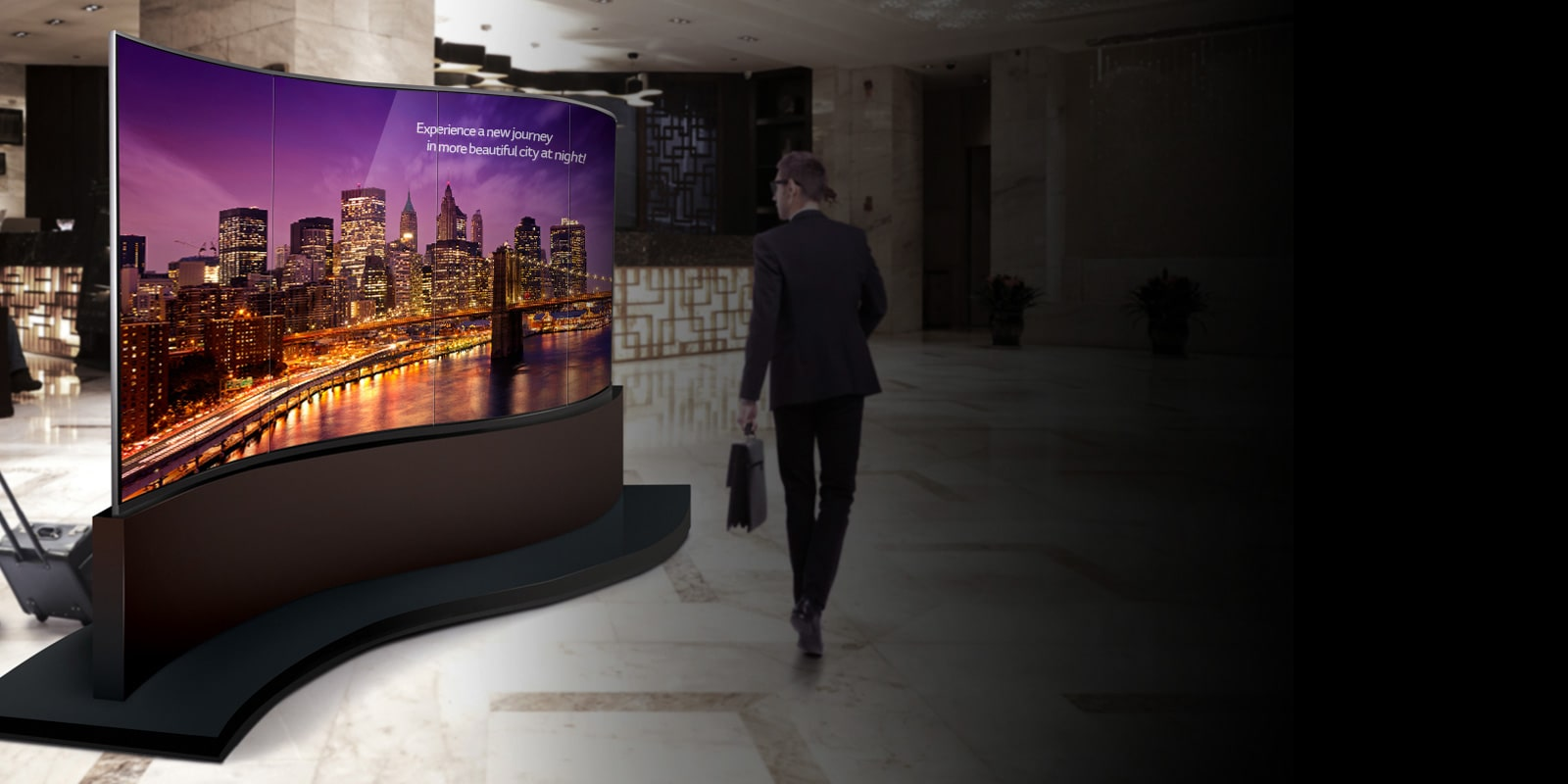 LG Dual-View Curved Tiling OLED Signage 65