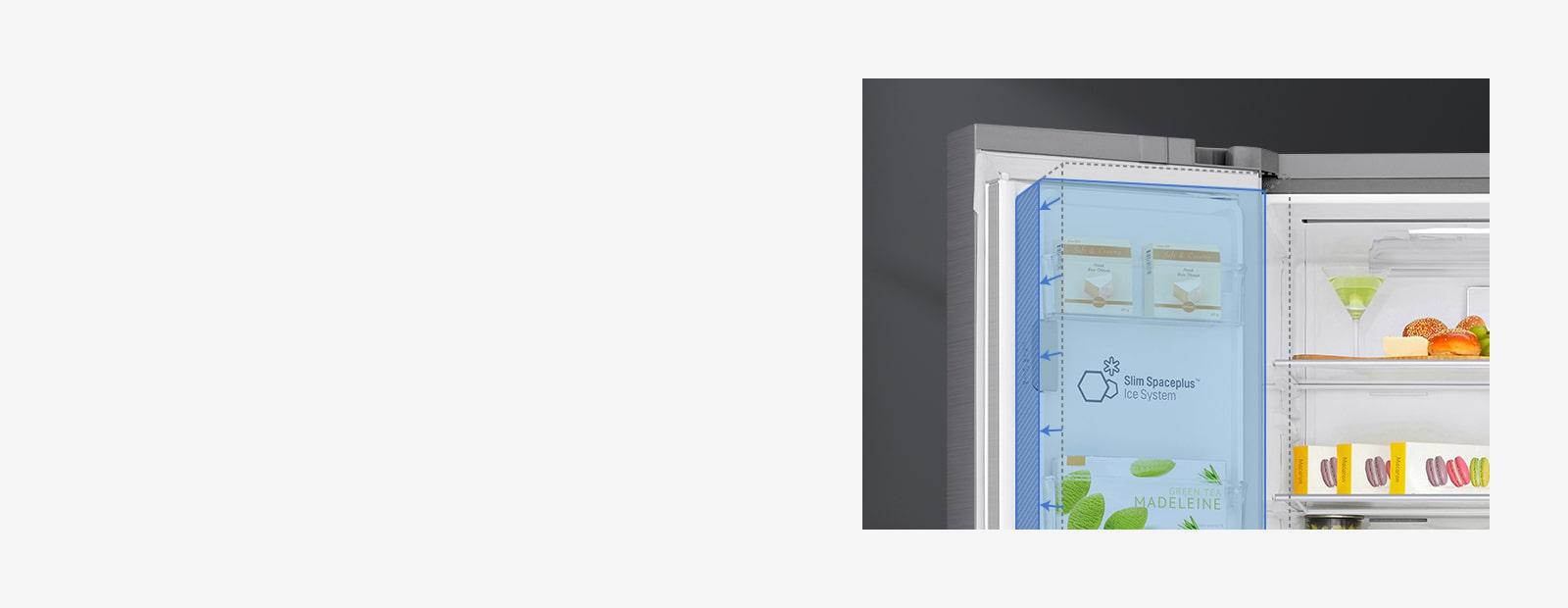 Ενσωματωμένος Παγοποιός στην πόρτα για έξτρα χώρο1