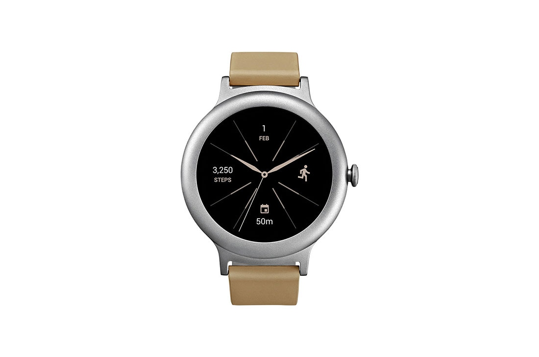 "Smart Watches LG Watch Style Smartwatch Android Wear Οθόνη OLED 1,2"" Λουράκι από γνήσιο δέρμα 1"