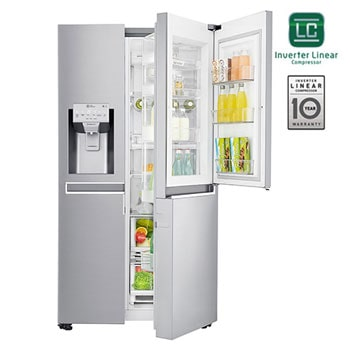 LG Ψυγείο Ντουλάπα Total No Frost 668lt Door-In-Door™ GSJ960NSBZ1
