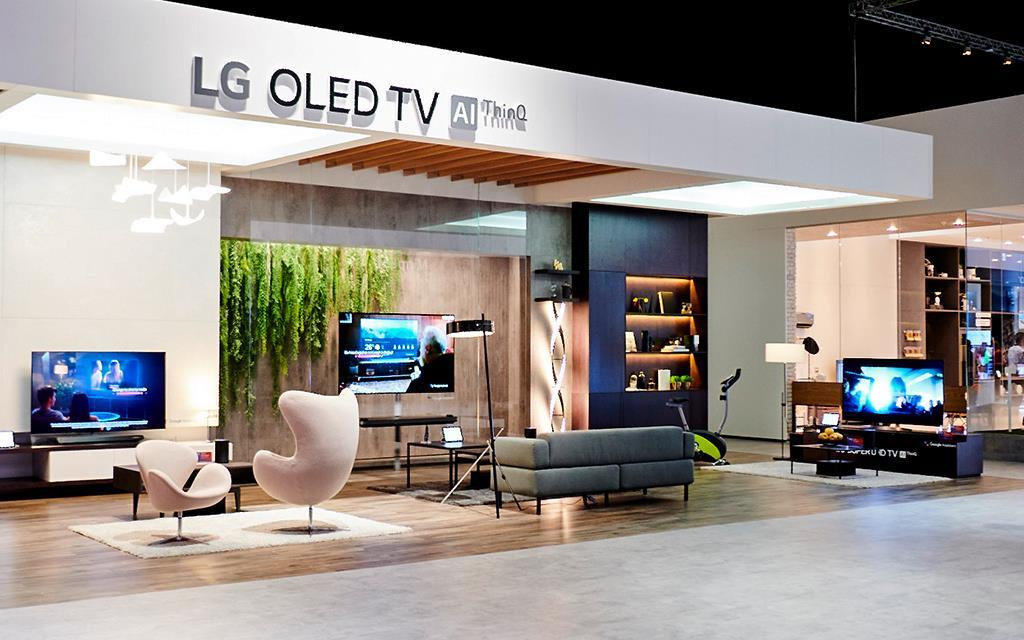 IFA 2018: The LG OLED TV exhibition, with ThinQ technology