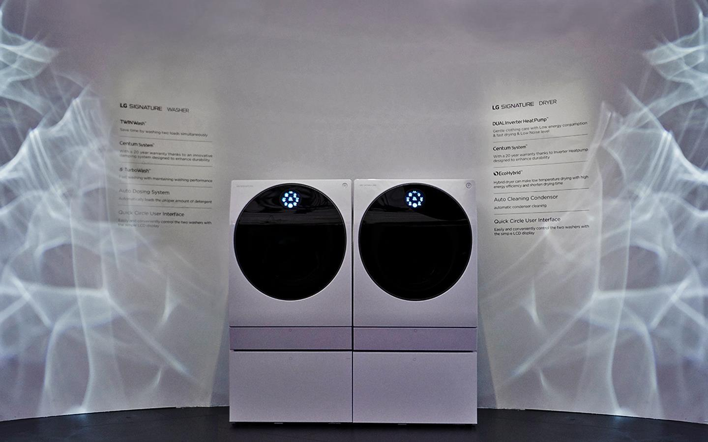 IFA 2018: The LG SIGNATURE Washer and Dryer, on show at LG's exhibition