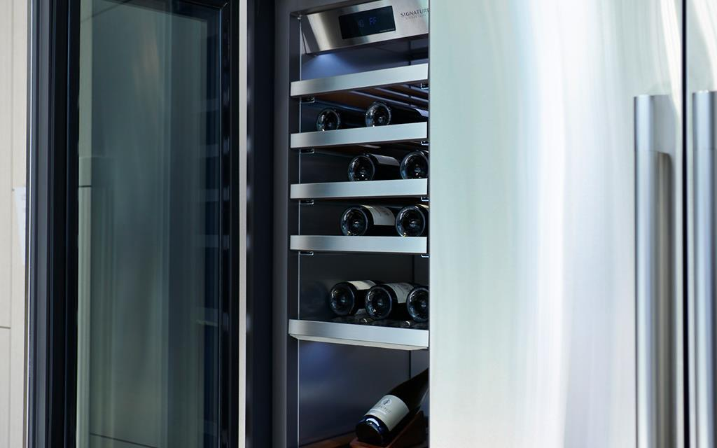 IFA 2018: A close-up of the wine fridge at the SIGNATURE KITCHEN SUITE exhibition for LG