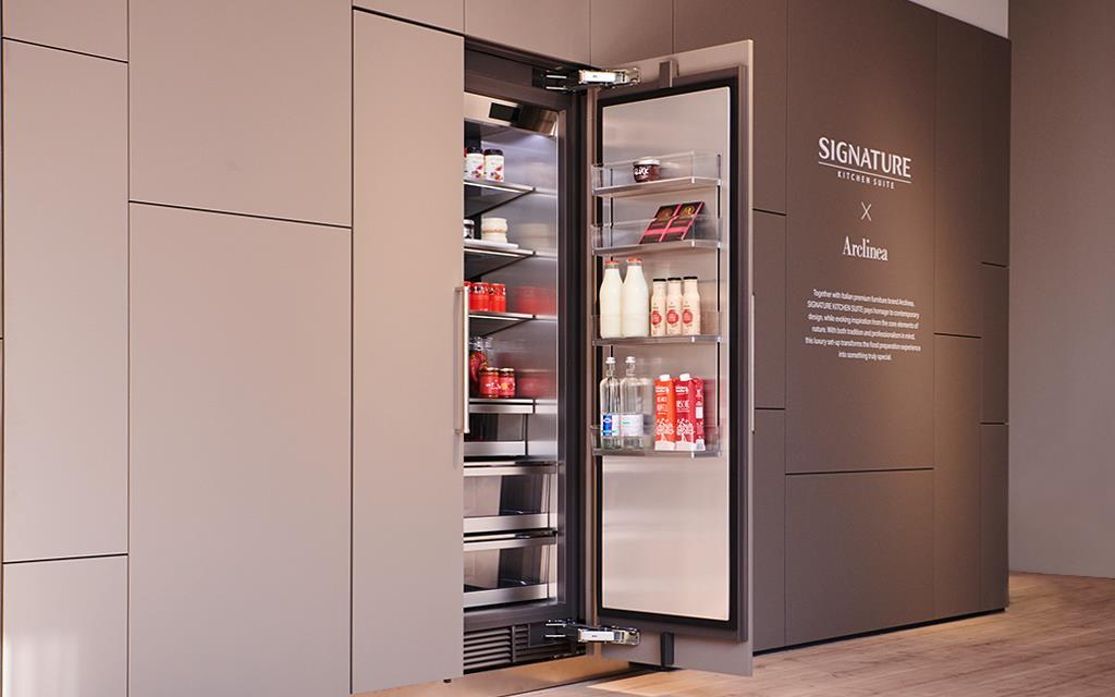 IFA 2018: One of the refrigerators at the SIGNATURE KITCHEN SUITE exhibition for LG