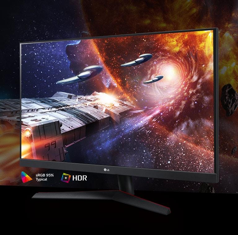 在支援 95% Srgb 的 Hdr10 顯示器上展現色彩豐富且對比鮮明的遊戲場景(一般值)
