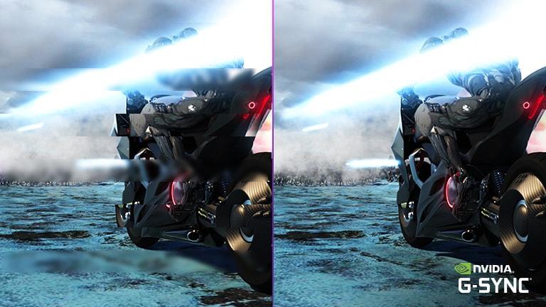 兼容 G-SYNC® 的顯示器,可將遊戲中的畫面撕裂和延遲減至最少。