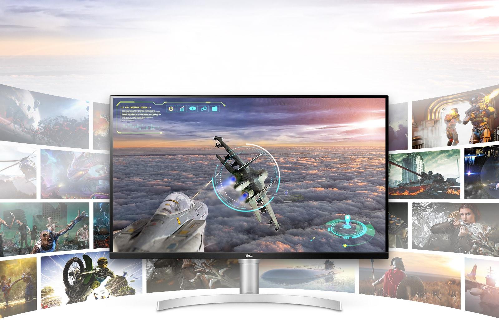 Игровая сцена с исключительной четкостью и детализацией на дисплее LG UHD 4K