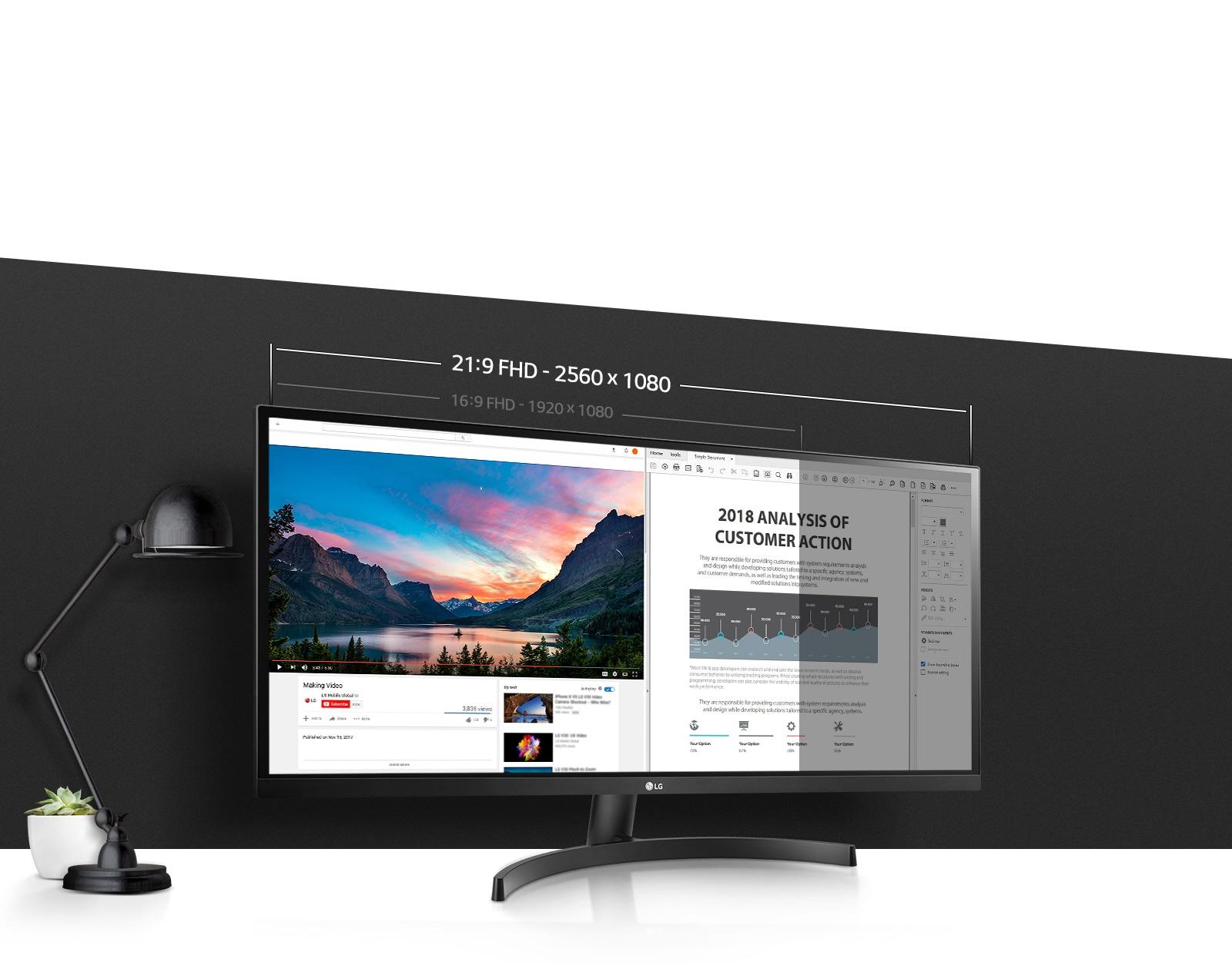 LG 34WK500 | 34 Inch 21:9 UltraWide Monitor | LG HK