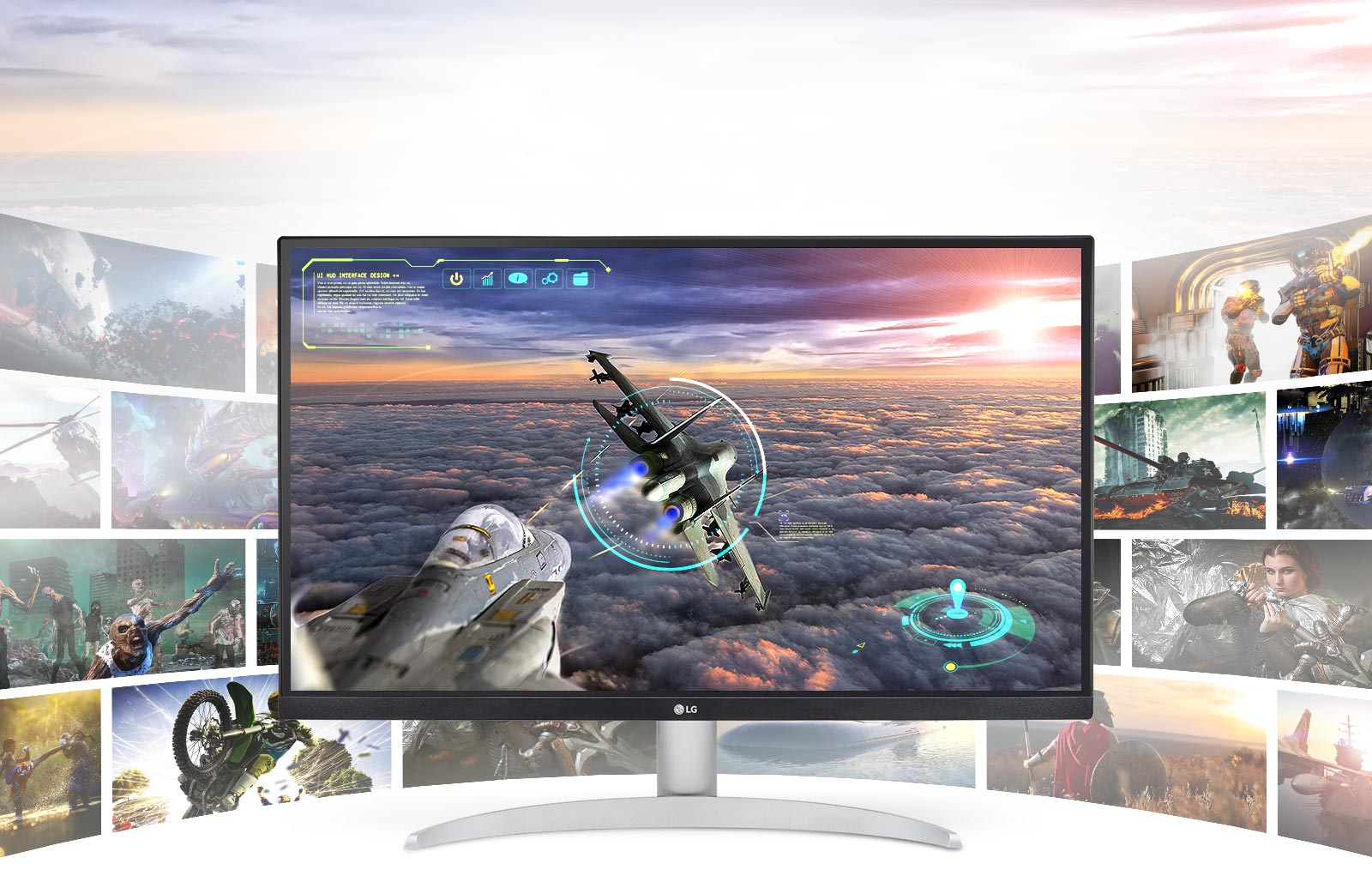 Gaming scene with exceptional clarity, and details in LG UHD 4K display