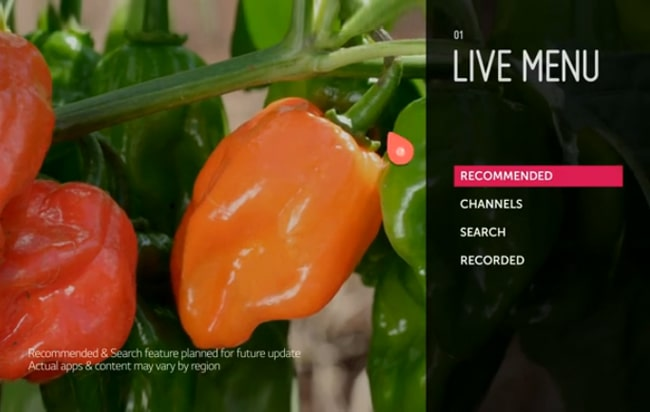 Live Menu - New Type of Channel Browsing