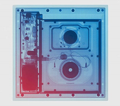 Prikaz četiriju slika povezanih sa zvukom tvrtke Meridian