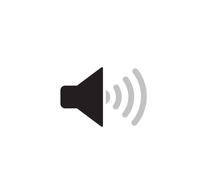 Tu je i ikona zvučnika.