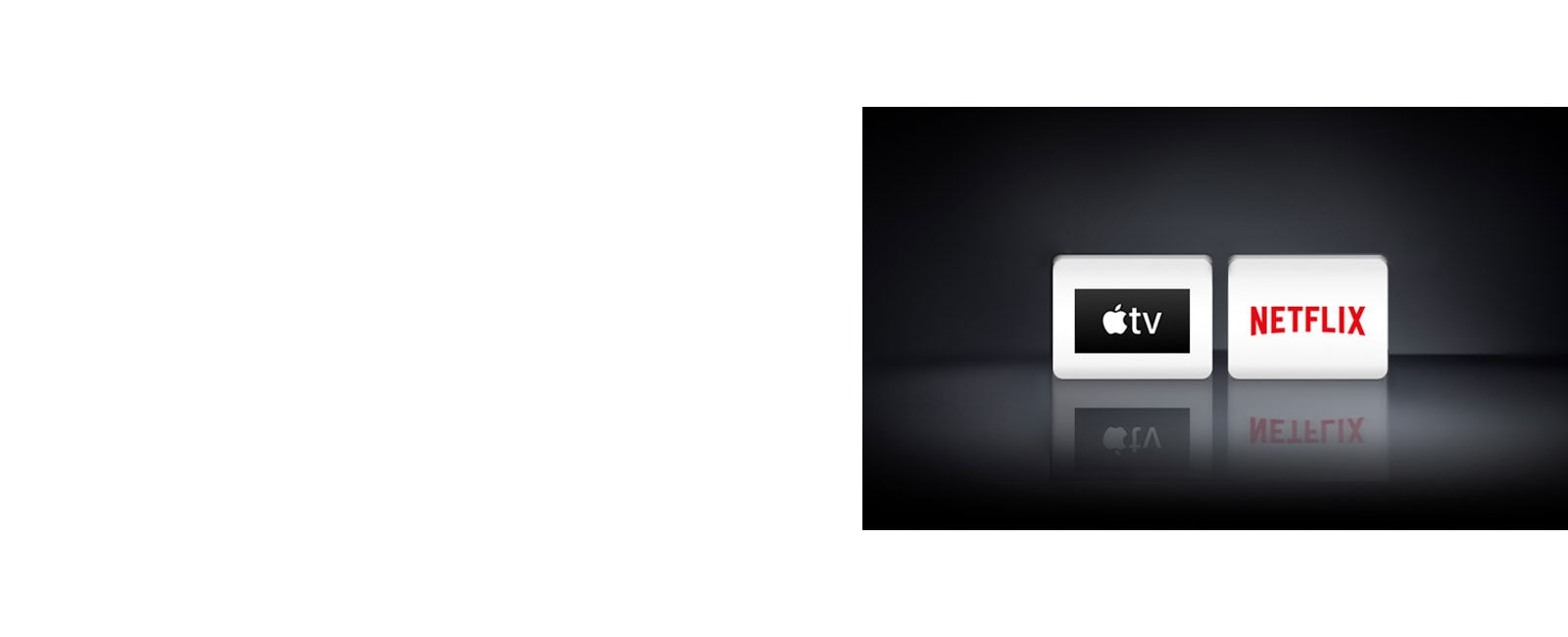 Dva logotipa: Apple TV in Netflix