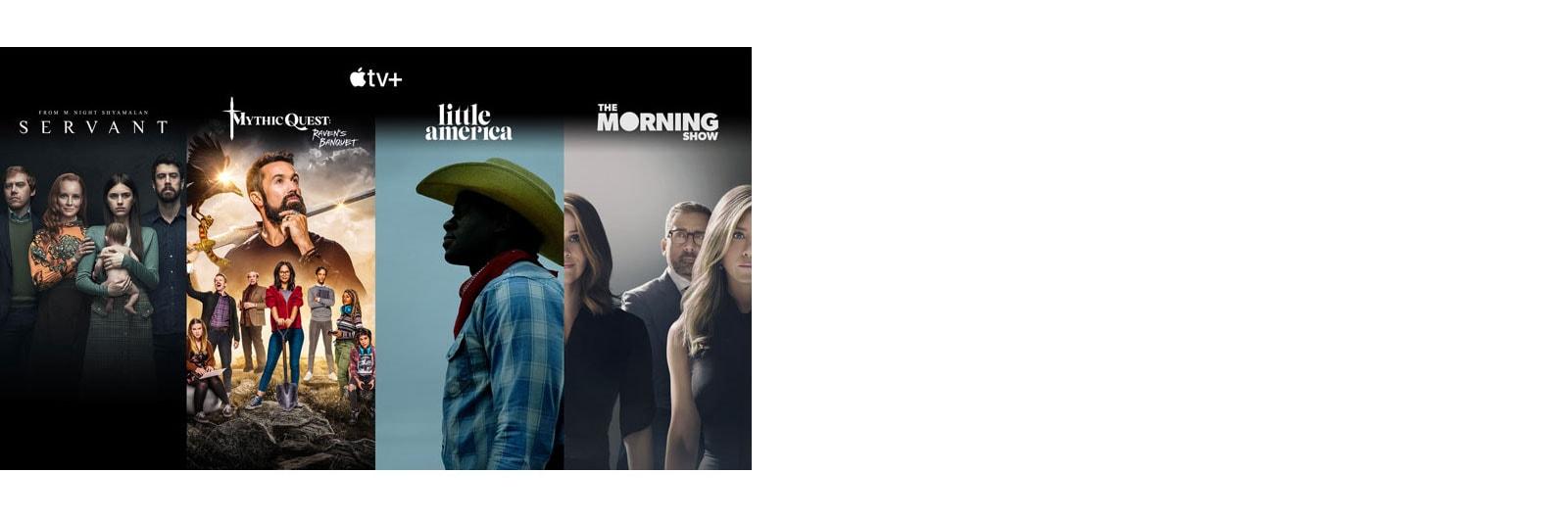 Sličice 4 najbolj priljubljenih naslovov v aplikaciji Apple TV
