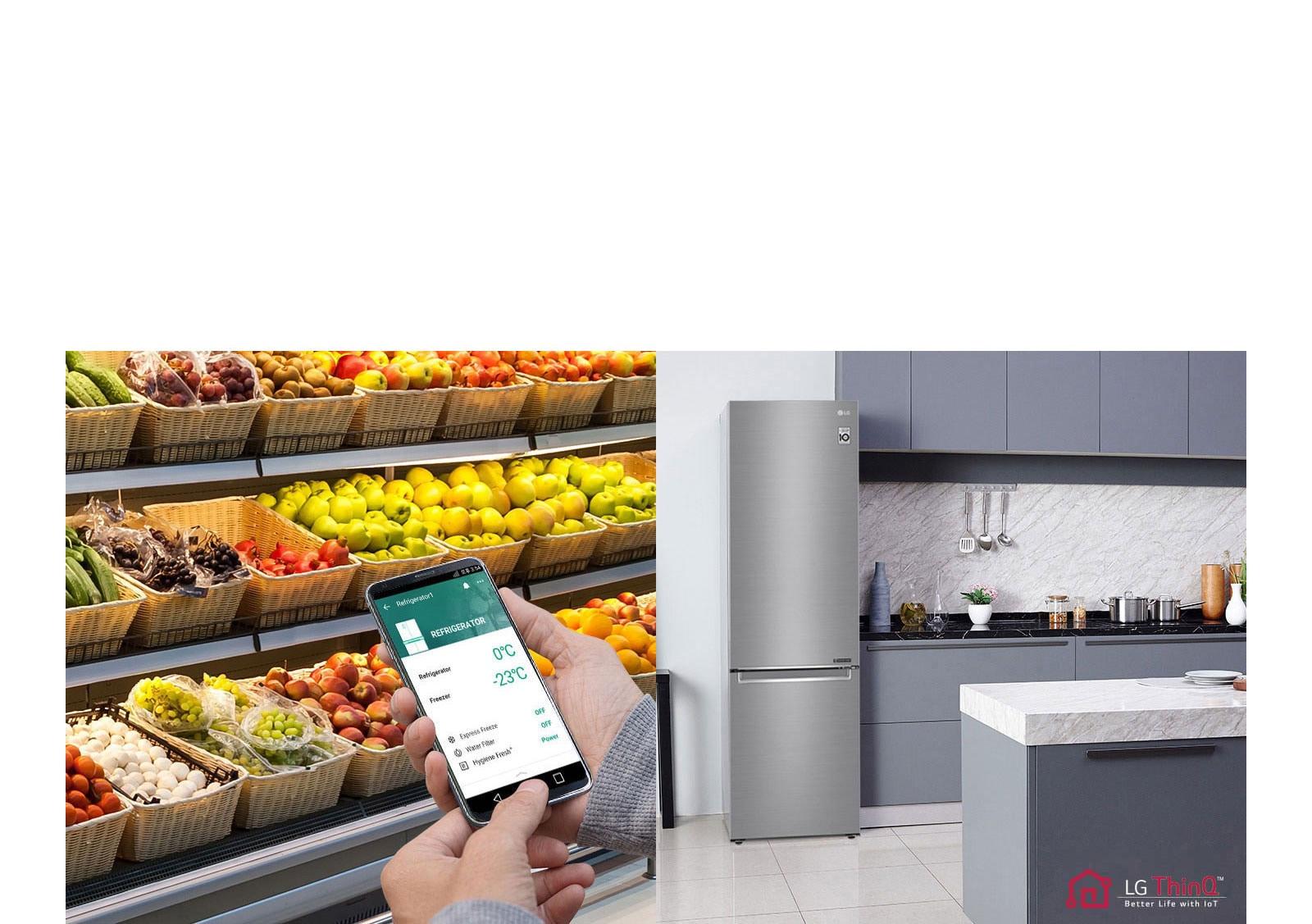 A hűtő beállításai távolról is módosíthatók<br />3