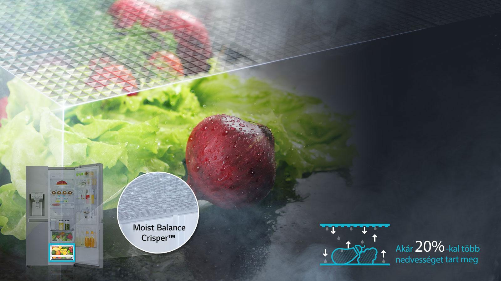 Moist Balance Crisper - Páratartó zöldségrekesz1