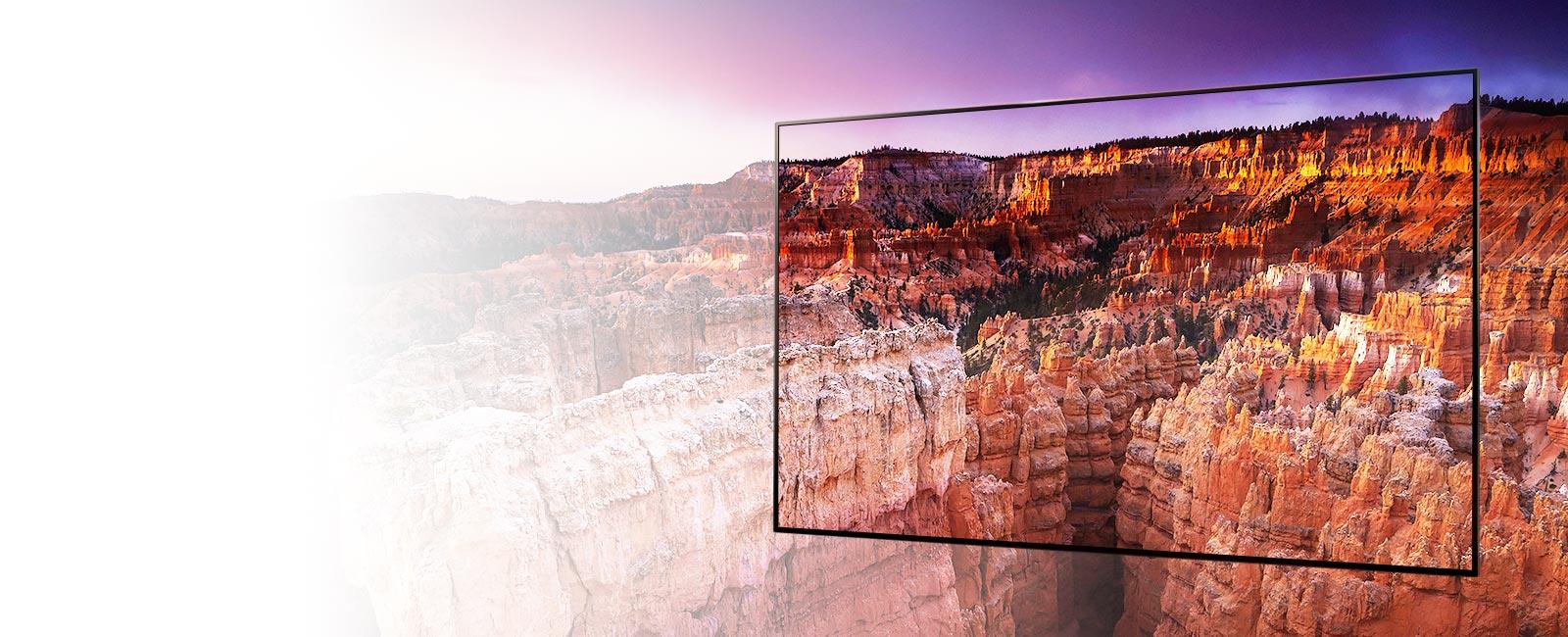 A keret a Bryce Canyon Nemzeti Park tájképeit rögzíti