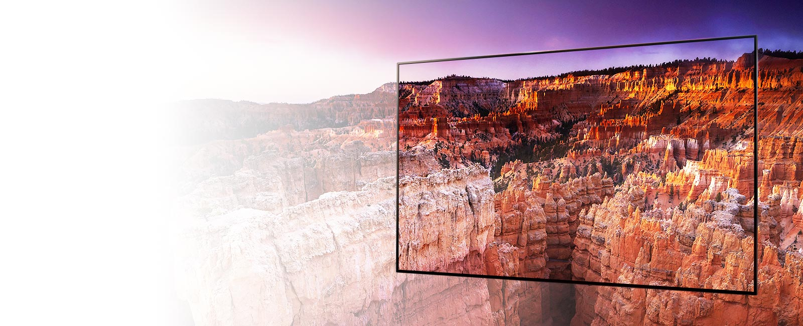 The frame captures landscapes of Bryce Canyon National Park