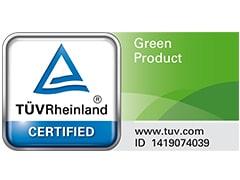 TÜV által tanúsított Zöld Termék, R290 hűtőközeg