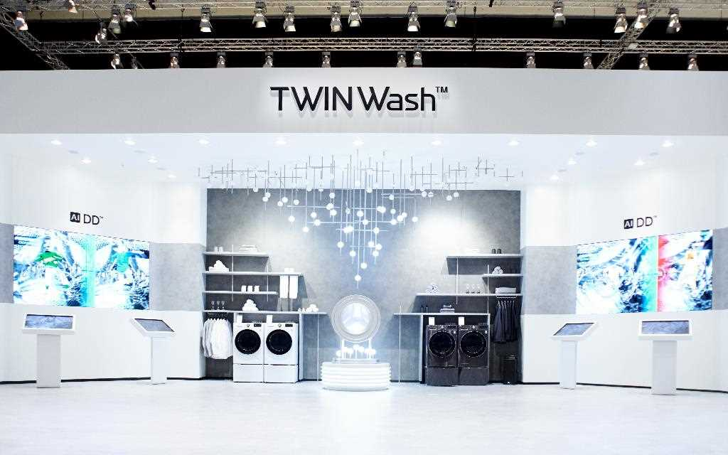 The all-new LG ThinQ AI DD Washer and Dryer were on show at IFA 2019 | More at LG MAGAZINE