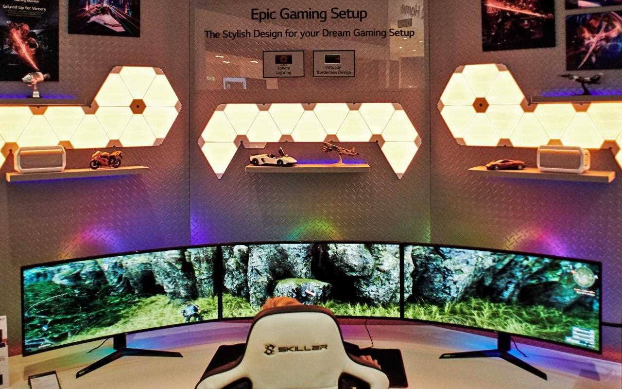 LG created the most epic gaming setup at IFA 2019, with the perfect chair, keyboard, monitor and lighting With the Skiller Sharkoon keyboard you can be sure every button you press is on target | More at LG MAGAZINE
