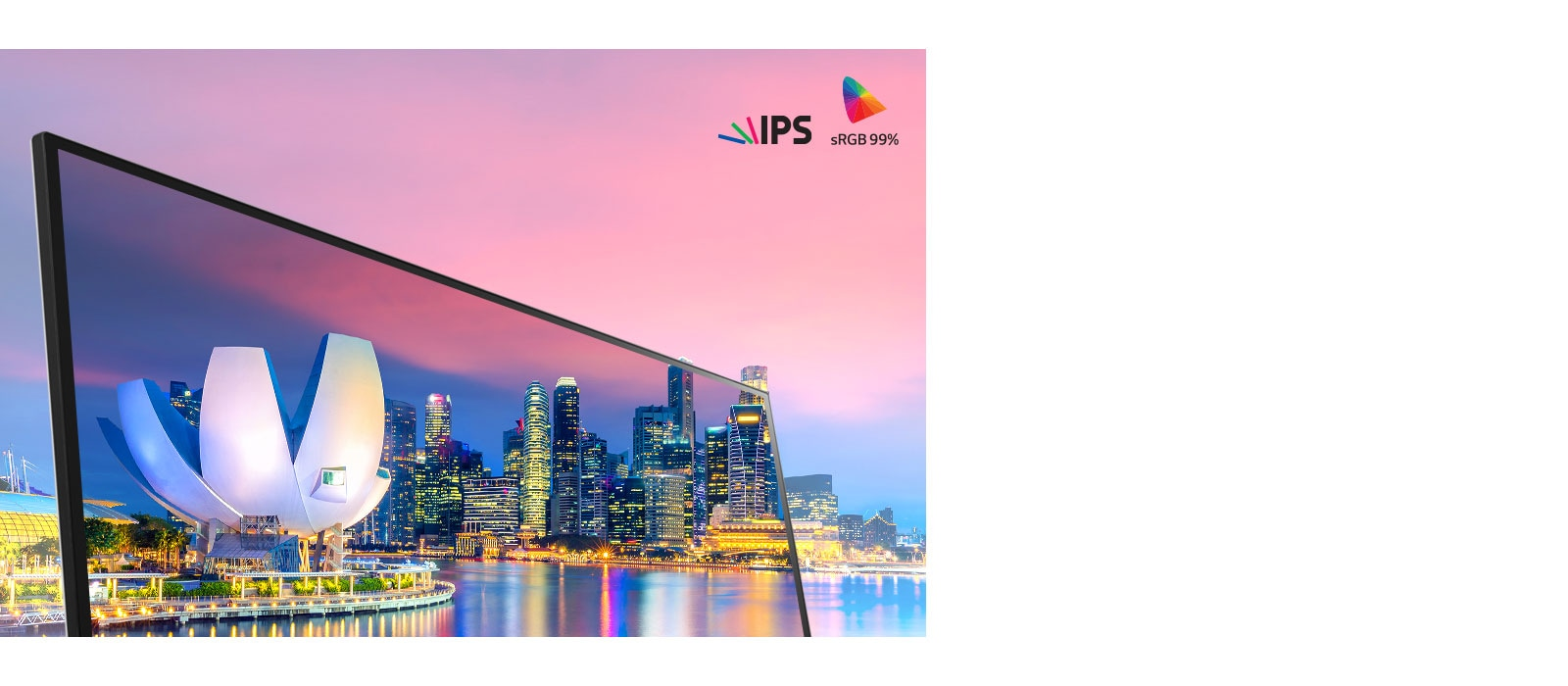 IPS dengan sRGB 99% (Biasa)<br>1