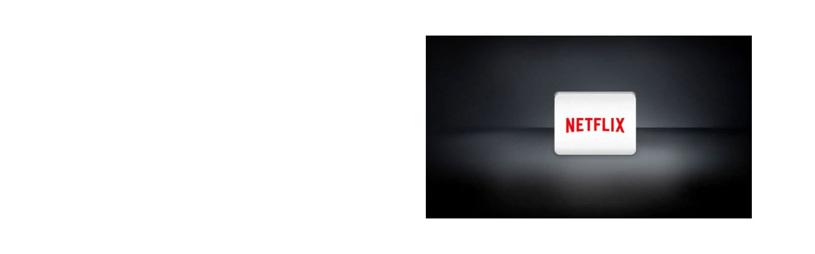 Logo Netflix tersusun secara horizontal dengan latar belakang hitam.