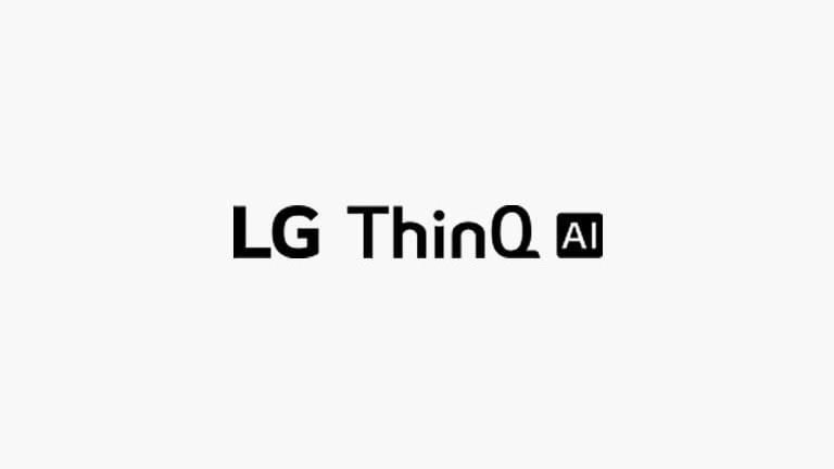 Kartu ini menjelaskan perintah suara. Logo LG AI ThinQ ditempatkan.