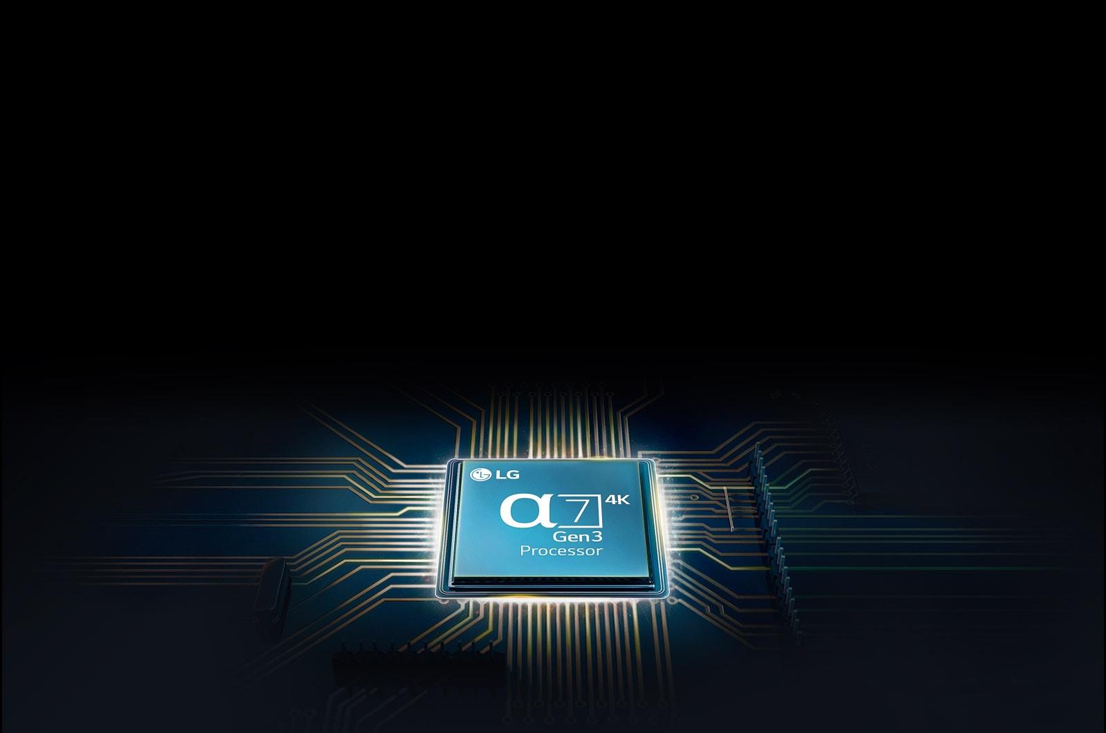 Chip Alpha 7 terpasang pada mainboard TV