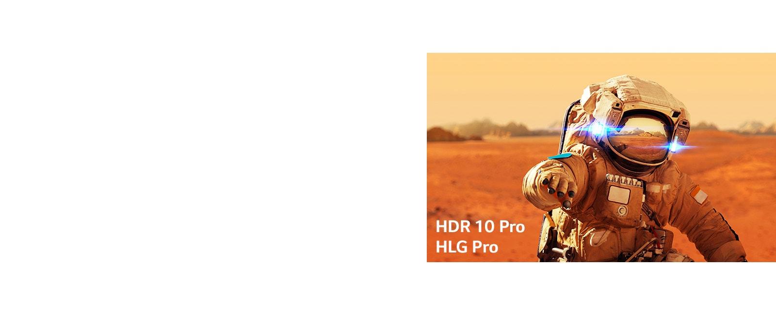 Marvel Iron Man, judul gambar dengan logo HLG Pro dan HDR 10 Pro