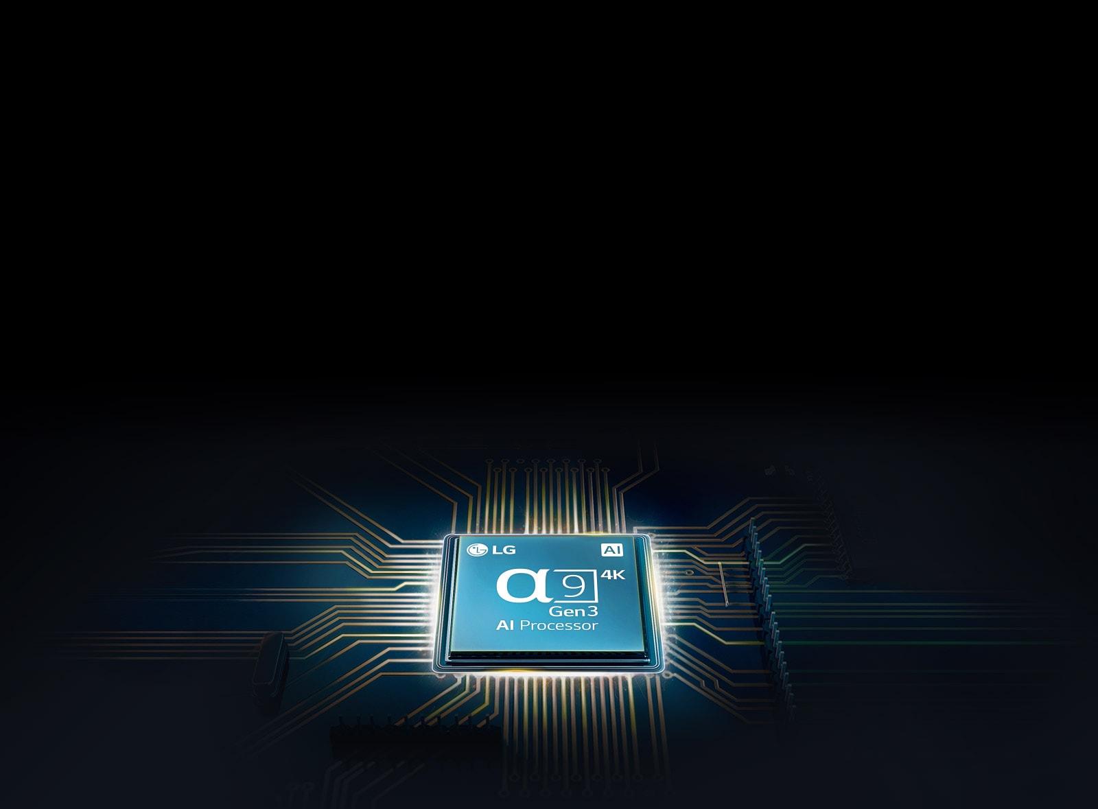 Chip Alpha 9 terpasang pada mainboard TV