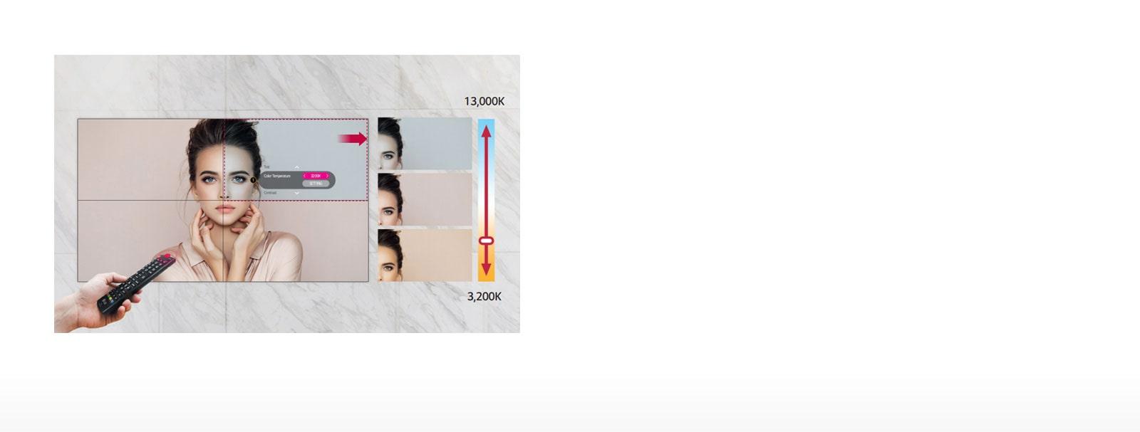 ID-Digital Signage-Video Wall-49VL7F-06-Easy Color Adjustment_1558318461468