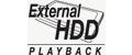 External HDD playback